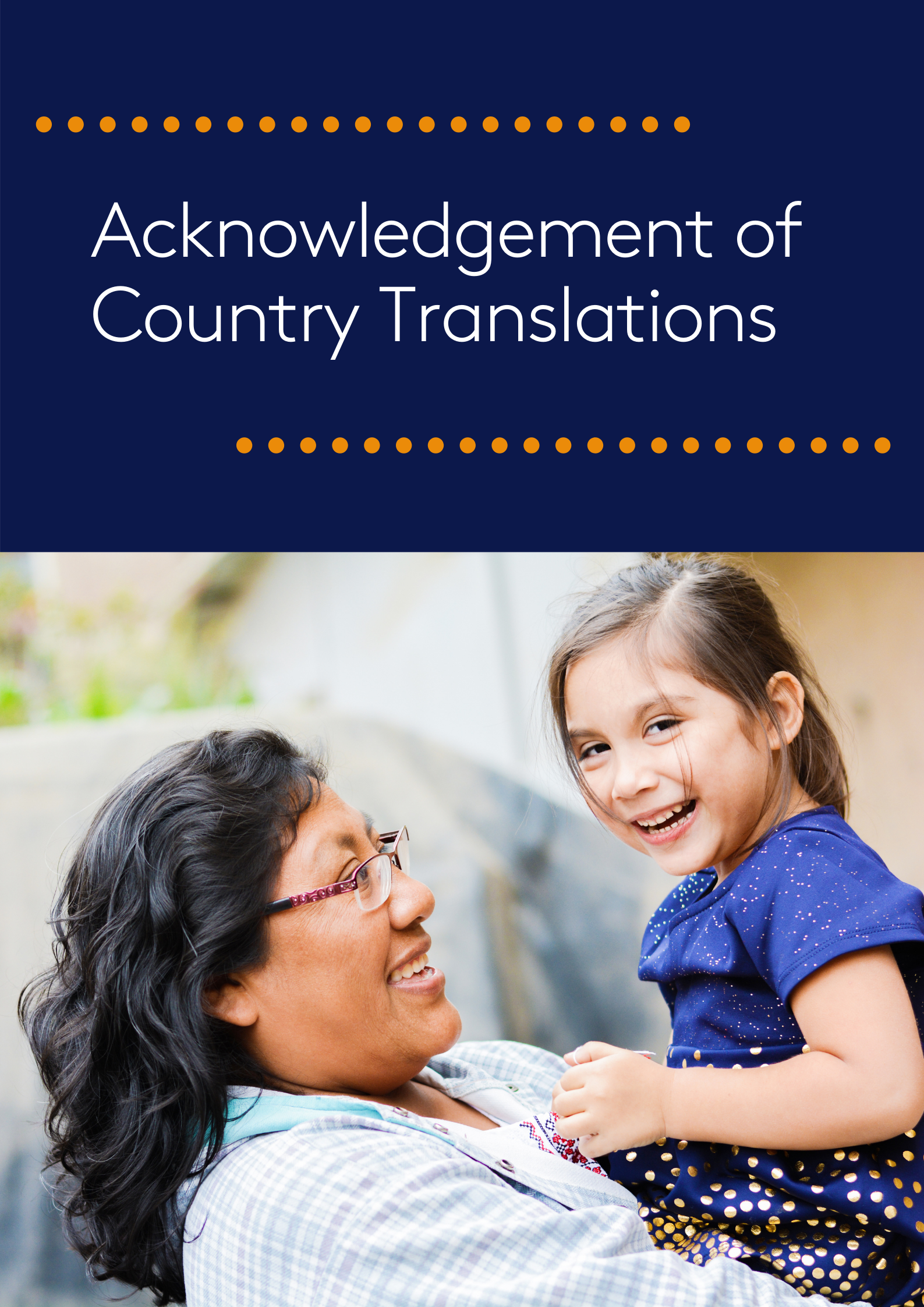 Acknowledgement of Country Translations